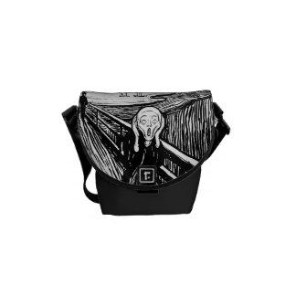 Die Schrei ~ Schwarz-weiße Lithographie Edvard Kuriertaschen
