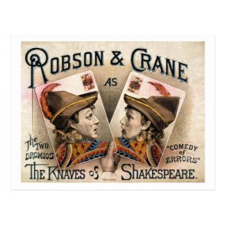 Die Schurken von Shakespeare Postkarte