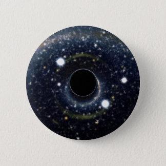 Die schwarzes Locheinstein-Ring NASA Runder Button 5,1 Cm