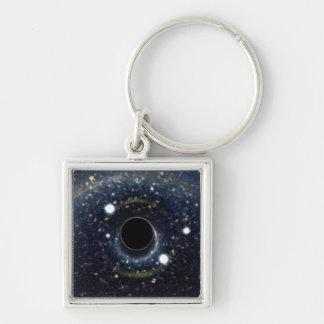 Die schwarzes Locheinstein-Ring NASA Schlüsselanhänger