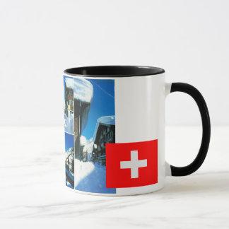 Die Schweiz, Andermatt Winter-Skiort Tasse