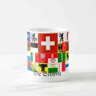 Die Schweiz die Schweiz deutsche Bezirk-Flaggen Tasse