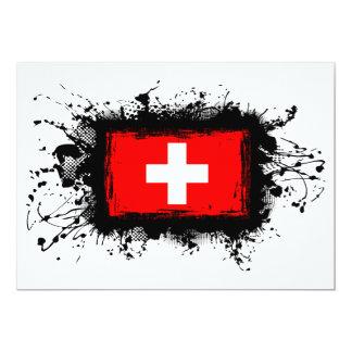 Die Schweiz-Flagge 12,7 X 17,8 Cm Einladungskarte