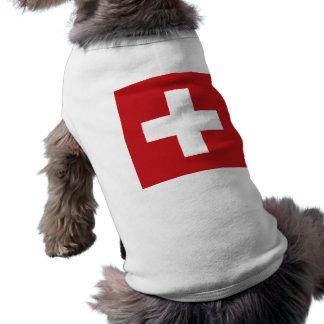 Die Schweiz-Flagge Ärmelfreies Hunde-Shirt