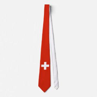 Die Schweiz-Flagge Bedruckte Krawatten