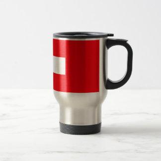 Die Schweiz-Flagge Edelstahl Thermotasse
