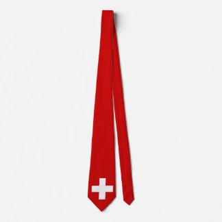 Die Schweiz-Flagge Individuelle Krawatte