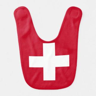 Die Schweiz-Flagge Lätzchen