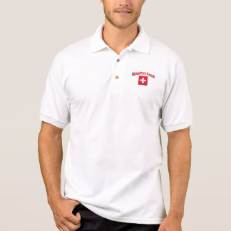 Die Schweiz-Flagge (w/inscription) Poloshirt