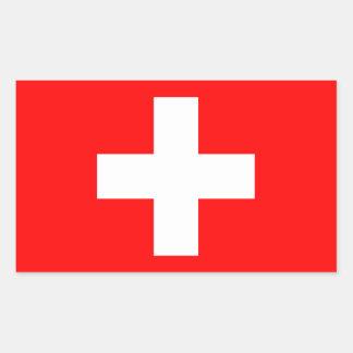 Die Schweiz-Flaggen-Aufkleber Rechteckiger Aufkleber