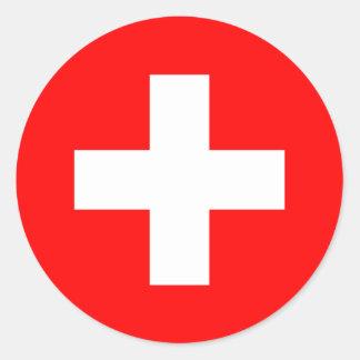 Die Schweiz-Flaggen-Aufkleber Runder Aufkleber