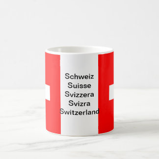 Die Schweiz-Flaggen-Tasse Tasse