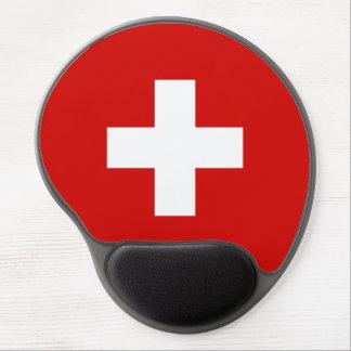 Die Schweiz-Flaggenqualität Gel Mousepad