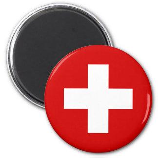 Die Schweiz-Flaggenqualität Runder Magnet 5,7 Cm
