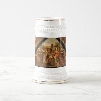 Die Schweiz, Luzerne, mittelalterliche Malerei Bierkrug
