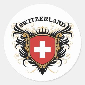 Die Schweiz Runder Aufkleber