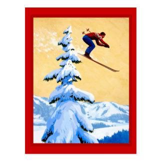 Die Schweiz-Skispringen Postkarte