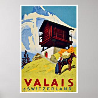 Die Schweiz - Vintage Reise-Plakate Poster