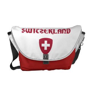 Die Schweiz + Wappen Kurier Tasche