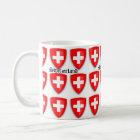 Die Schweiz-Wappen Schweizer Text-Andenken Kaffeetasse