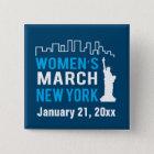 Die Schwester-März New York Januar der Frauen Quadratischer Button 5,1 Cm