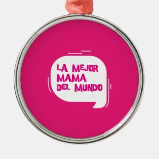 Die sehr bessere Mama der Welt Silbernes Ornament