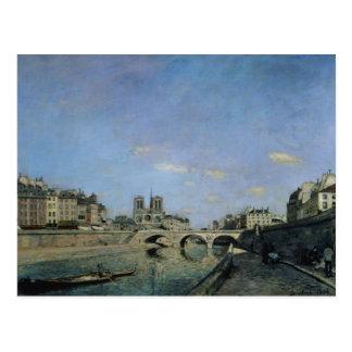 Die Seine und Notre Dame in Paris, 1864 Postkarte