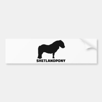 Die Shetlandinseln-Pony Autoaufkleber