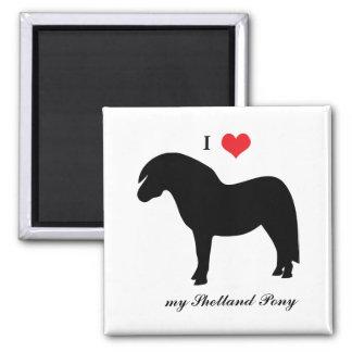Die Shetlandinseln-Pony, i-Liebeherz, Quadratischer Magnet