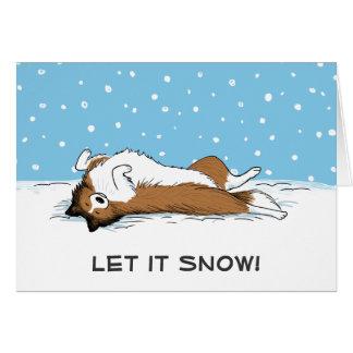 """Die Shetlandinseln-Schäferhund """"ließ es schneien"""" Karte"""