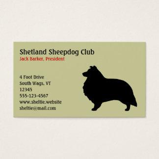 Die Shetlandinseln-Schäferhund-Silhouette Visitenkarte