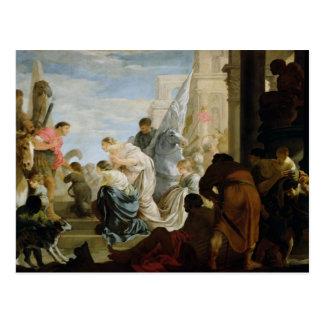 Die Sitzung von Anthony und von Kleopatra, c.1645 Postkarte