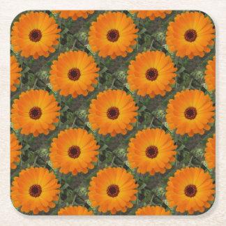 Die Skala-Ringelblumen-Blume des orange Rechteckiger Pappuntersetzer