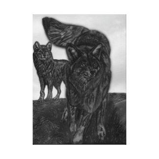 Die Sonnenschein-Wölfe Leinwanddruck