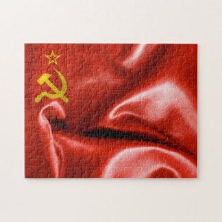 Die Sowjetunions-Flaggen-Puzzlen