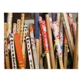 Die Spazierstöcke der Pilger von Japan Postkarte