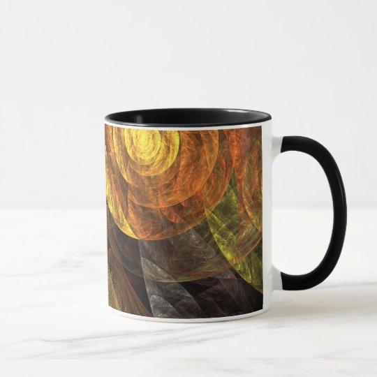 Die Spirale Leben-der abstrakten Kaffee-Tasse Tasse
