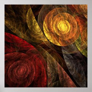 Die Spirale Leben-des abstrakten Kunst-Druckes Poster
