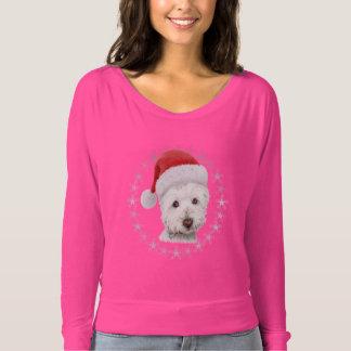 Die Spitze der WeihnachtenWestie Hundekunst-Frau T-shirt