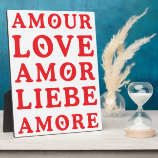 Die Sprache der Liebe Fotoplatte