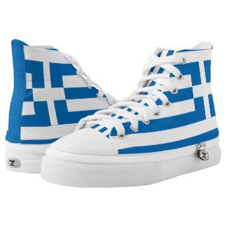 Die Staatsflagge von Griechenland Hoch-geschnittene Sneaker