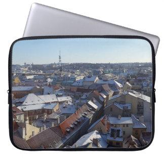 Die Stadt der Prag-Laptop-Hülse Laptop Sleeve