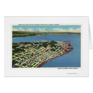 Die Stadt, die in Richtung Bucht der der Jugend Karte