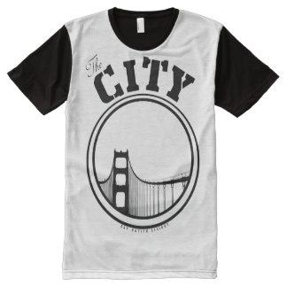 Die Stadt T-Shirt Mit Komplett Bedruckbarer Vorderseite