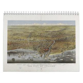 Die Stadt von Chicago Illinois ab 1874 Abreißkalender