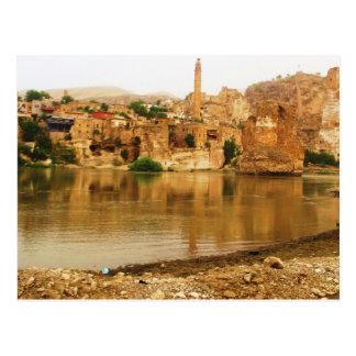 Die Stadt von Hasankeyf, die Türkei-FOTO Postkarte