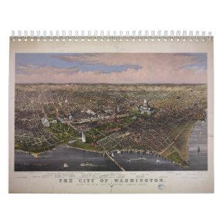 Die Stadt von Washington DC ab 1880 Wandkalender
