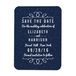 Die Starry Nacht, die Save the Date Wedding ist Magnet