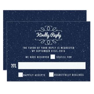 Die Starry Nachthochzeits-Sammlung - UAWG 8,9 X 12,7 Cm Einladungskarte