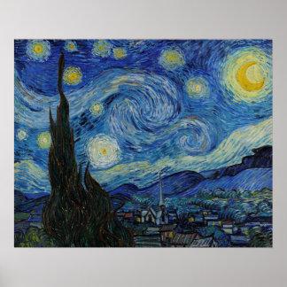 Die sternenklare Nacht durch Vincent van Poster